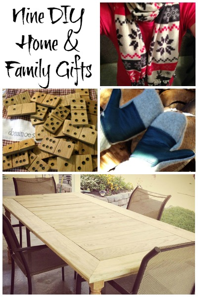 Nine DIY Gifts for Home and Family