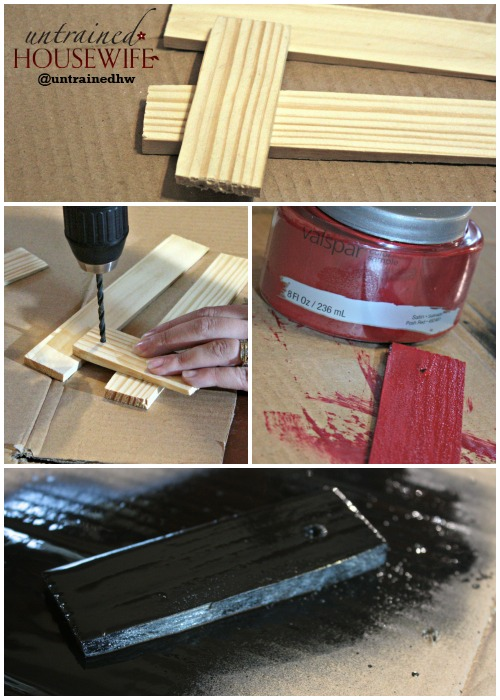 Preparing the Wood Shims to be plant tags for the indoor herb garden container