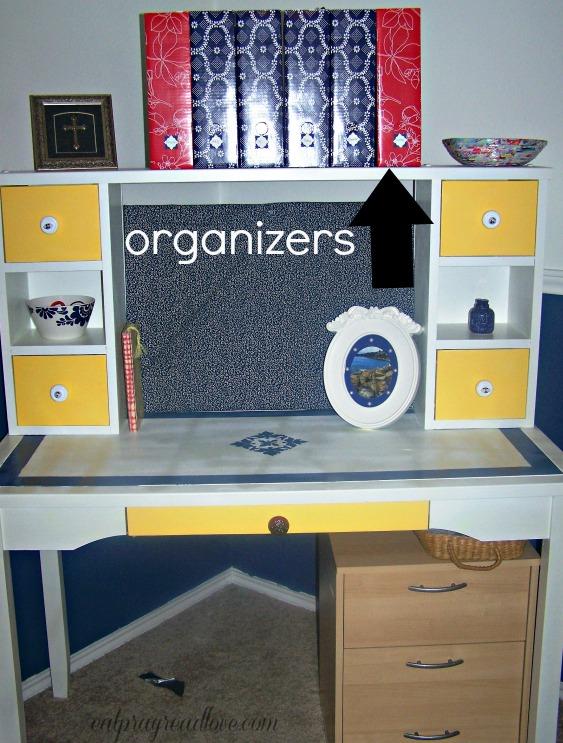 Organizing Paperwork at the Kids' Desk
