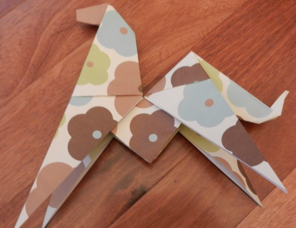 Origami Horse With Scrapbook Paper