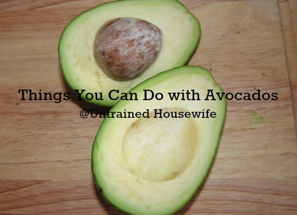Things you can do with avocados
