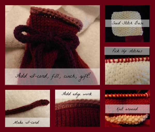 Knitted gift/treat bag