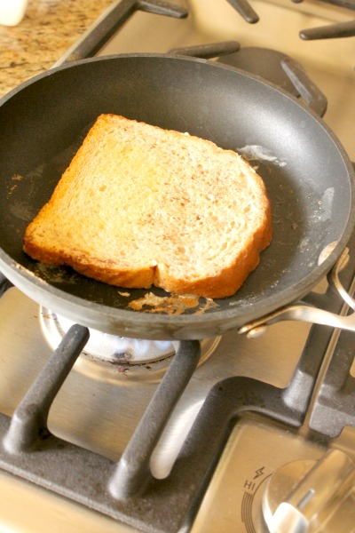 Whole Grain French Toast Cooking