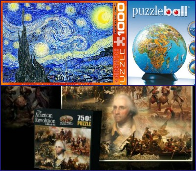 Geography, Art, History puzzles for homechooling