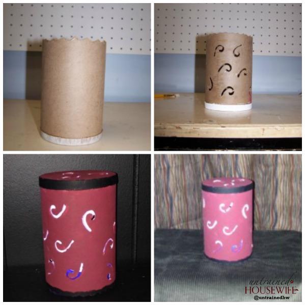 Repurposed Salt Container Lighting