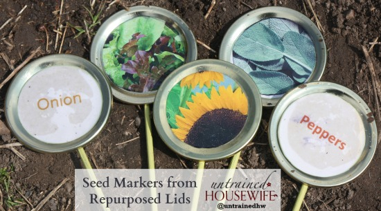 Seed Markers from Repurposed Lids