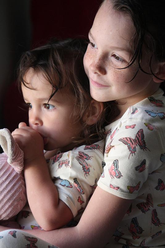 Vivian Brianna Sitting Together Skylar Luna Organic Pajamas