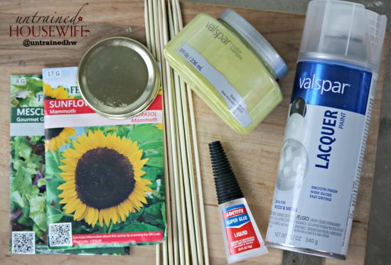 Supplies for canning lid seed labels